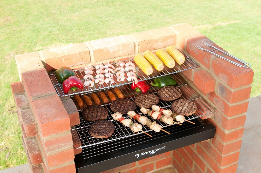 Bkb403 Bbq Kit With Stainless Steel Cooking Grill Warming
