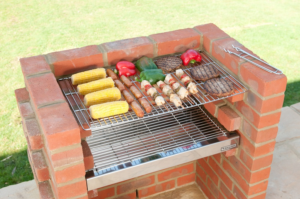 bkb500 deluxe kit 100 stainless steel brick barbecue bbq kit. Black Bedroom Furniture Sets. Home Design Ideas